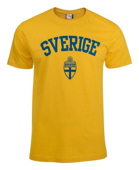 """T-shirt Basic """"SVERIGE GUL"""""""