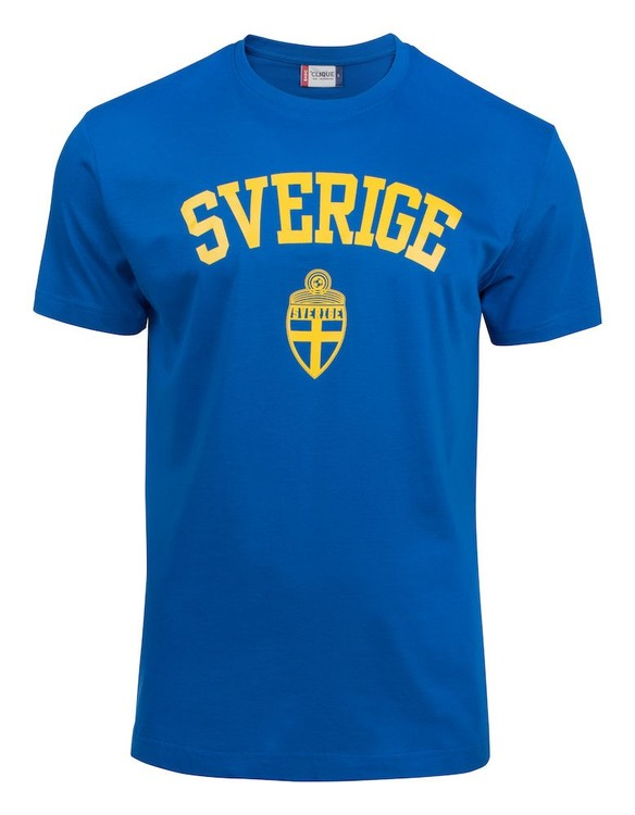 "T-shirt Basic ""SVERIGE ROYALBLÅ"""