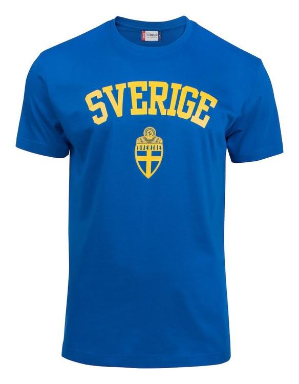 """T-shirt Basic """"SVERIGE ROYALBLÅ"""""""