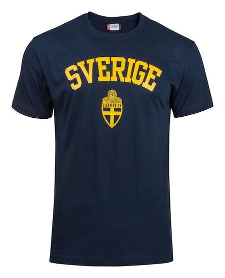 """T-shirt Basic """"SVERIGE MÖRKBLÅ"""""""