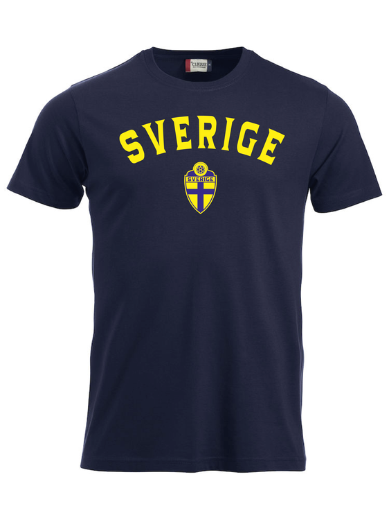 "T-shirt Classic ""SVERIGE Mörk Marin"""