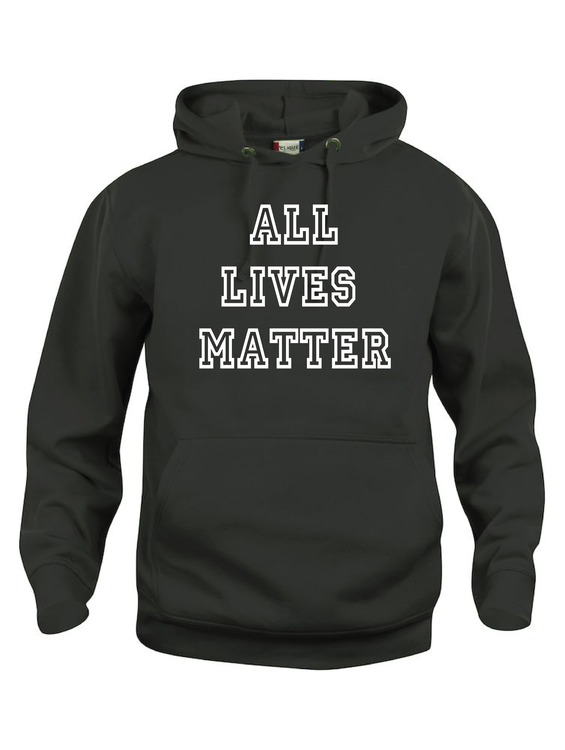 "Hoodtröja Basic ""ALL LIVES MATTER"""