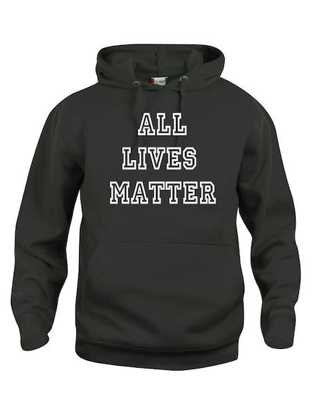 """Hoodtröja Basic """"ALL LIVES MATTER"""""""