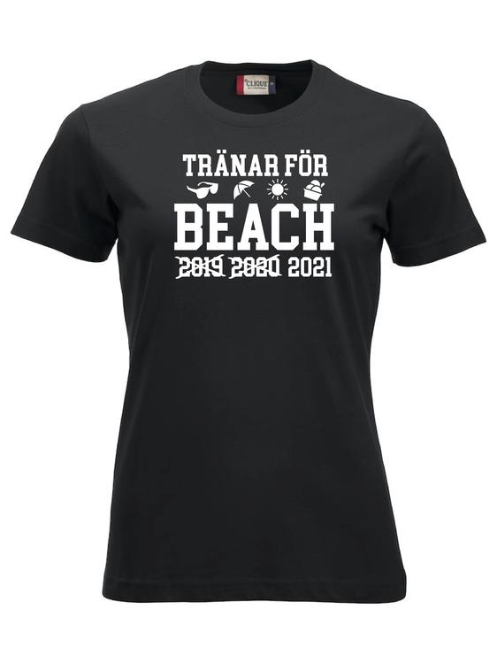 "Dam T-shirt Classic ""TRÄNAR INFÖR BEACH X X 2021 """