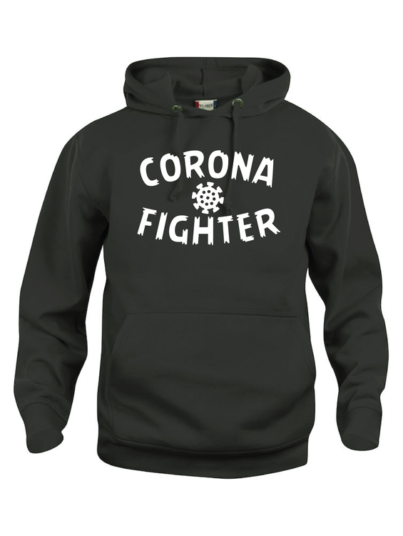 "Hoodtröja Basic ""CORONA FIGHTER"""