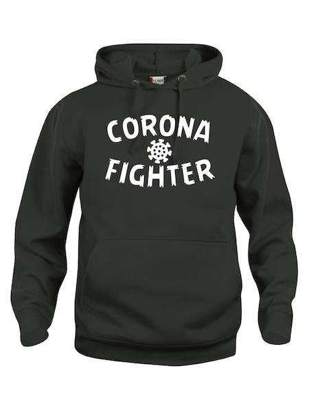 "Hoodtröja Basic ""CORONA FIGHTER"""