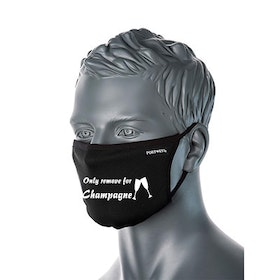 "Svart Ansiktsmask ""Only remove for Champagne"""