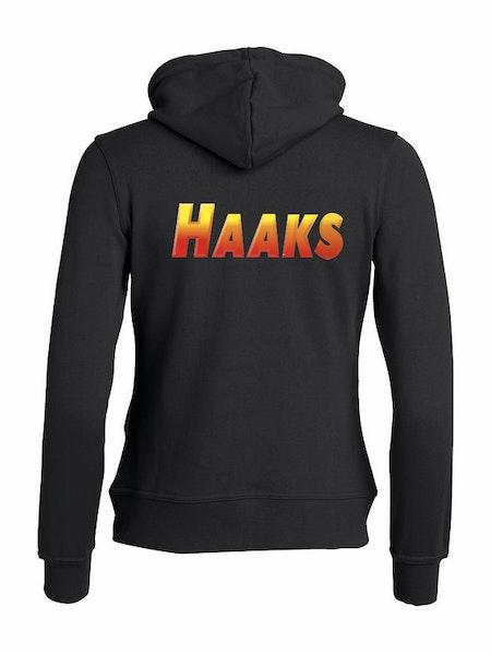 """Dam Hoodjacka """"HAAKS"""" Rygg"""