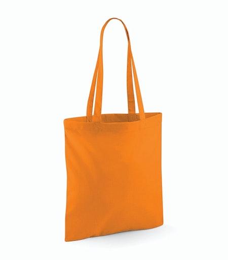 Orange Tygkasse med långt handtag