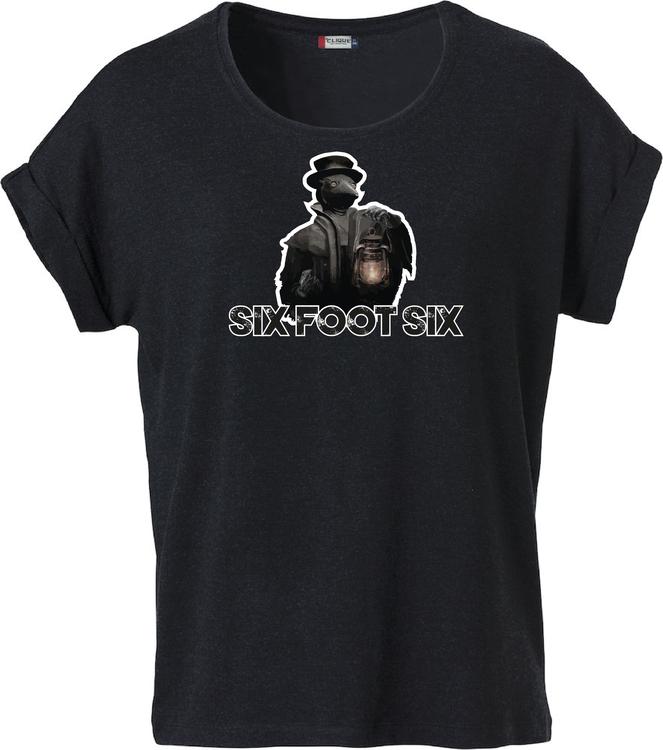 """Svart Dam T-shirt Katy """"PESTDOKTOR"""""""