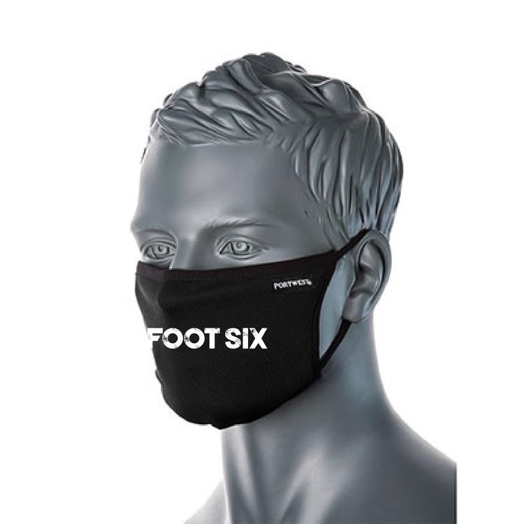 "Svart Ansiktsmask ""SFS LOGO"""
