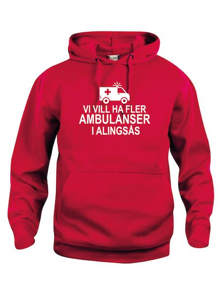 "Hoodtröja ""Fler AMBULANSER i Alingsås"""