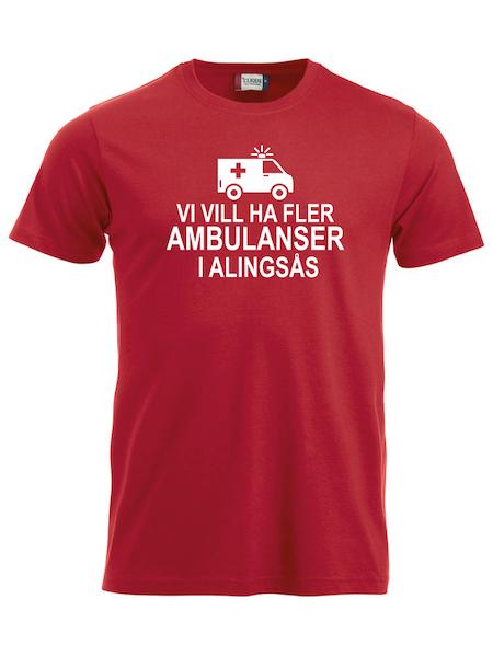 """T-shirt """"Fler AMBULANSER i Alingsås"""""""