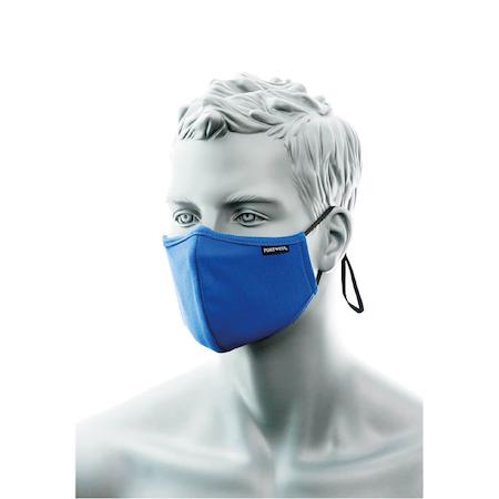 Blått Munskydd 2-lager med näsband
