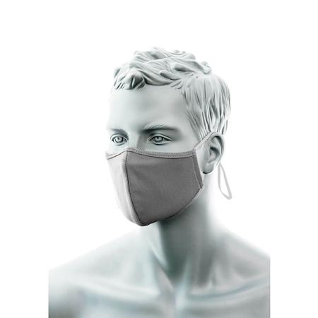 Grått Munskydd 2-lager med näsband