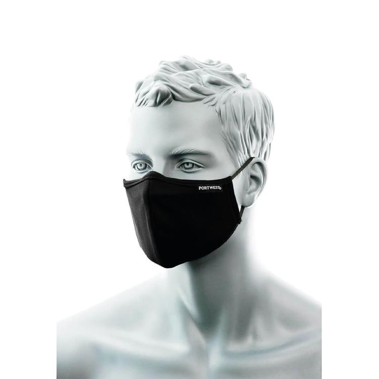 Svart Munskydd 3-lager med näsband