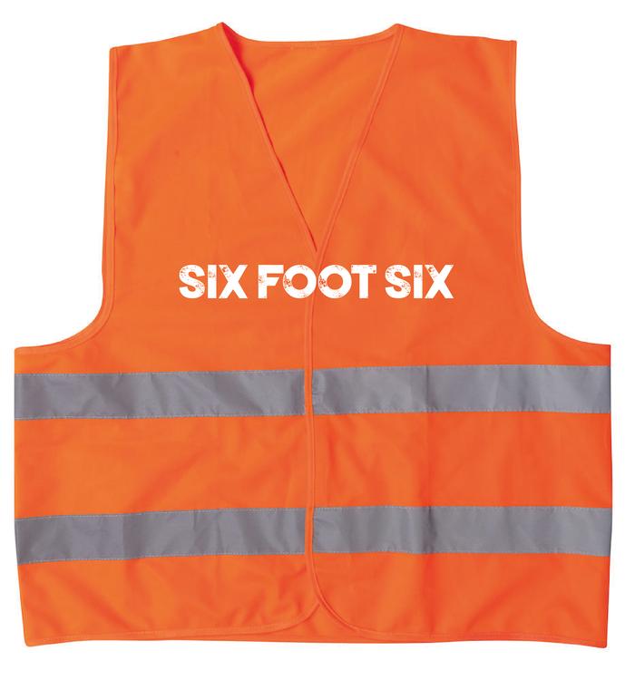 """Orange Reflexväst """"SFS LOGO"""""""