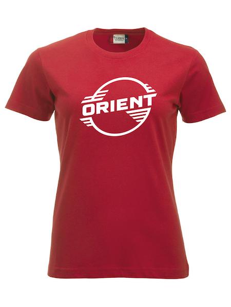 """Röd Dam T-shirt Classic """"ORIENT"""""""