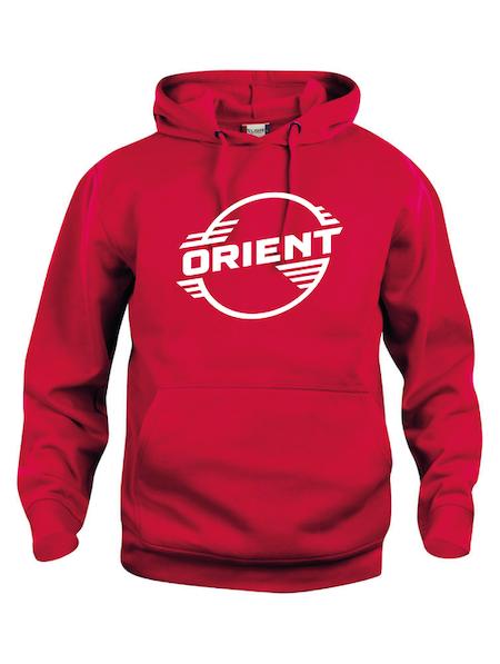 "Röd Hoodtröja Basic ""ORIENT"""
