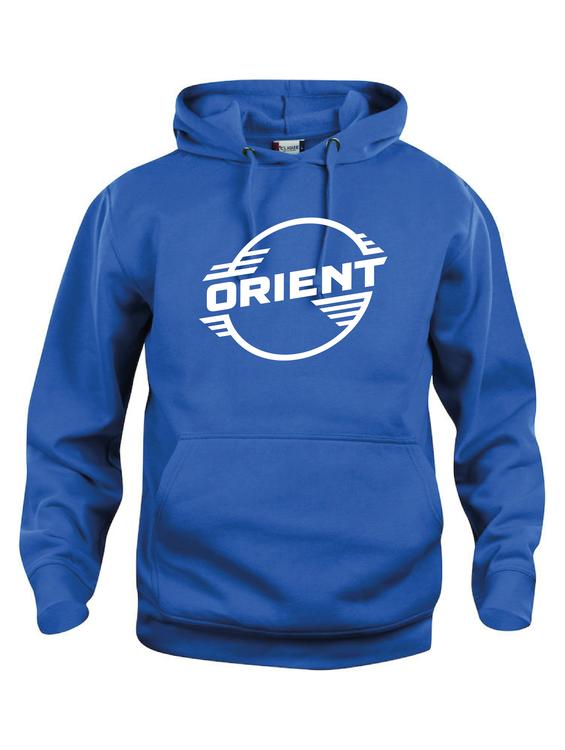 """Blå Hoodtröja Basic """"ORIENT"""""""