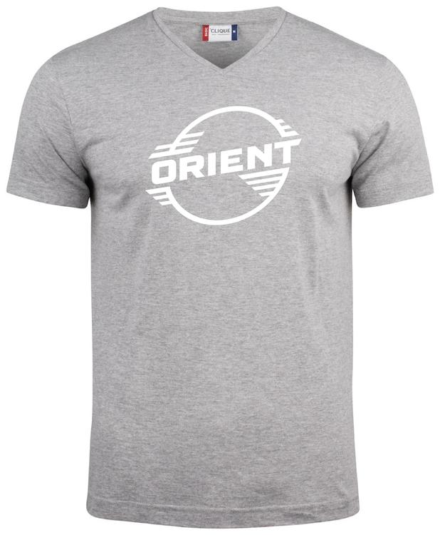 """Grå V-hals T-shirt """"ORIENT"""""""