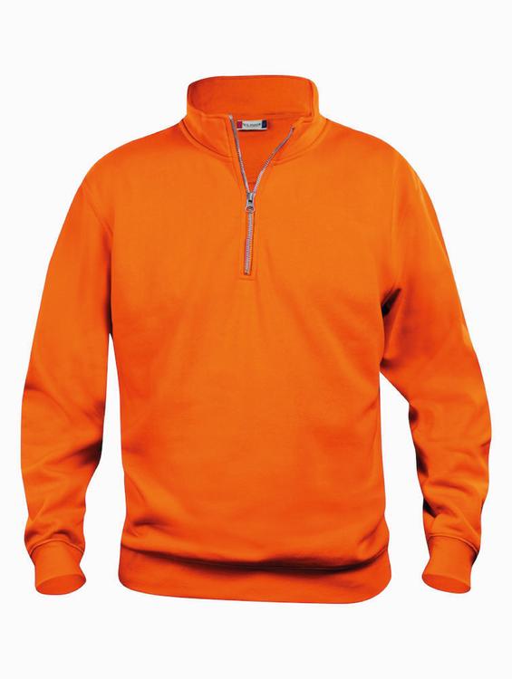 Orange Sweatshirt Halv-Zip