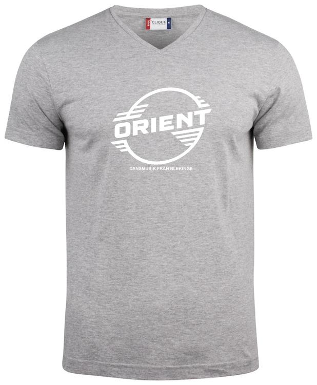 "Grå V-hals T-shirt ""ORIENT Blekinge"""