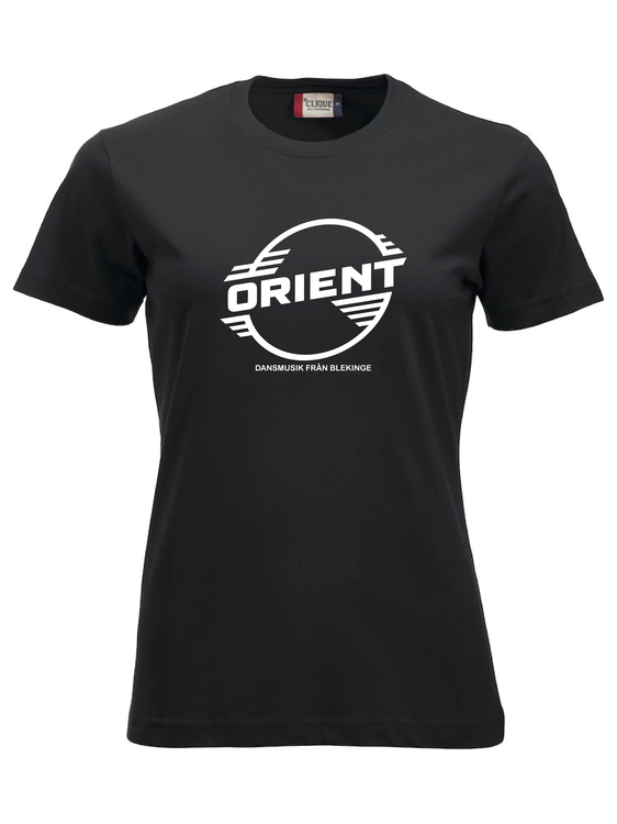"""Svart Dam T-shirt Classic """"ORIENT Blekinge"""""""