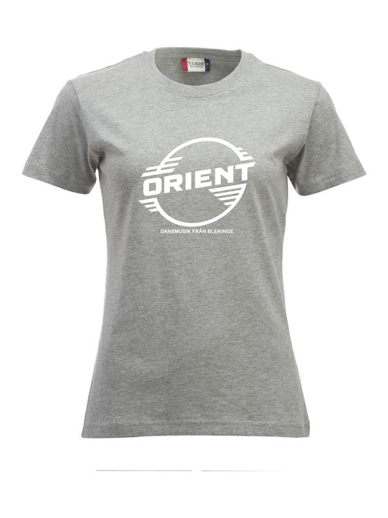 "Grå Dam T-shirt Classic ""ORIENT Blekinge"""