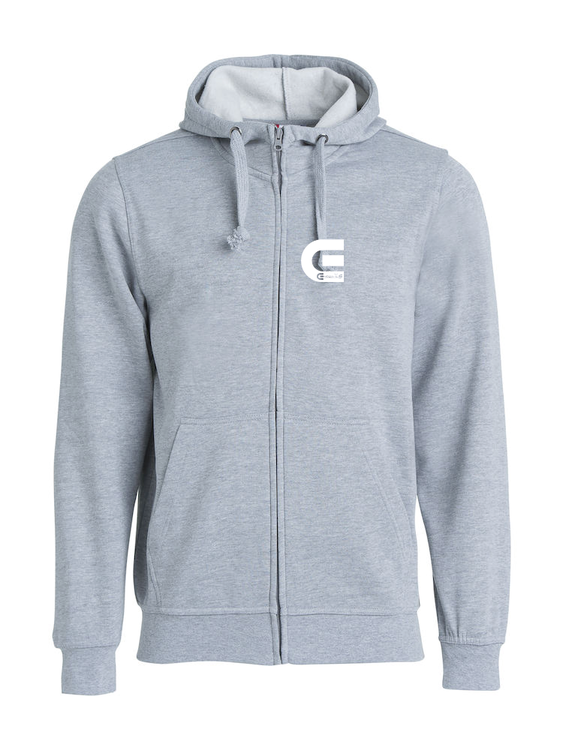 "Grå Hoodjacka ""E-Logo"" Fram"