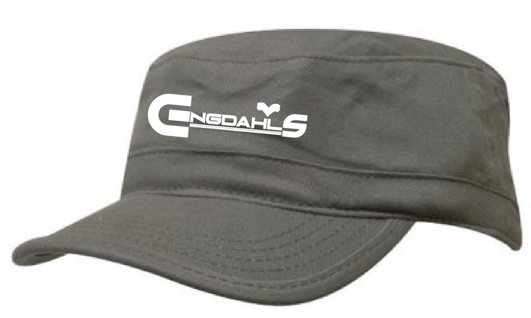 "Khaki Army Keps ""Engdahls Logo"""