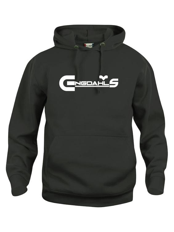 """Svart Hoodtröja Basic """"Engdahls Logo"""""""