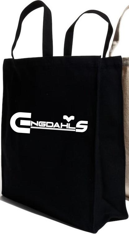 """Svart Tygkasse Kraftig """"Engdahls Logo"""""""