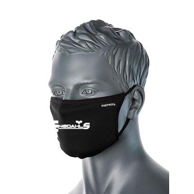 "Svart Ansiktsmask ""Engdahls Logo"""