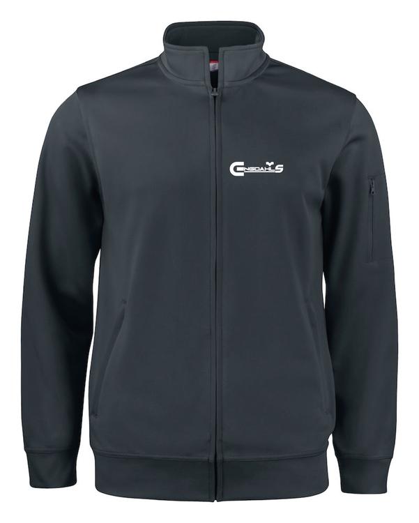 "Svart Cardigan Active ""Engdahls Logo"" fram"