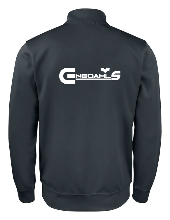 "Svart Cardigan Active ""Engdahls Logo rygg"