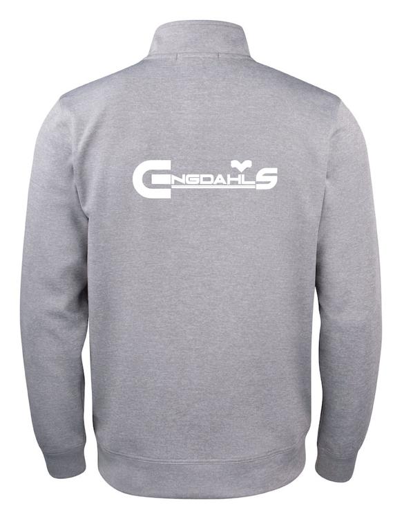 "Grå Cardigan Active ""Engdahls Logo rygg"