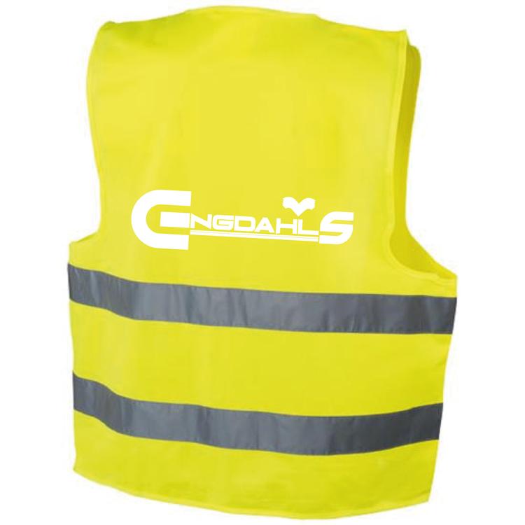 """Gul Reflexväst """"Engdahls Logo"""""""