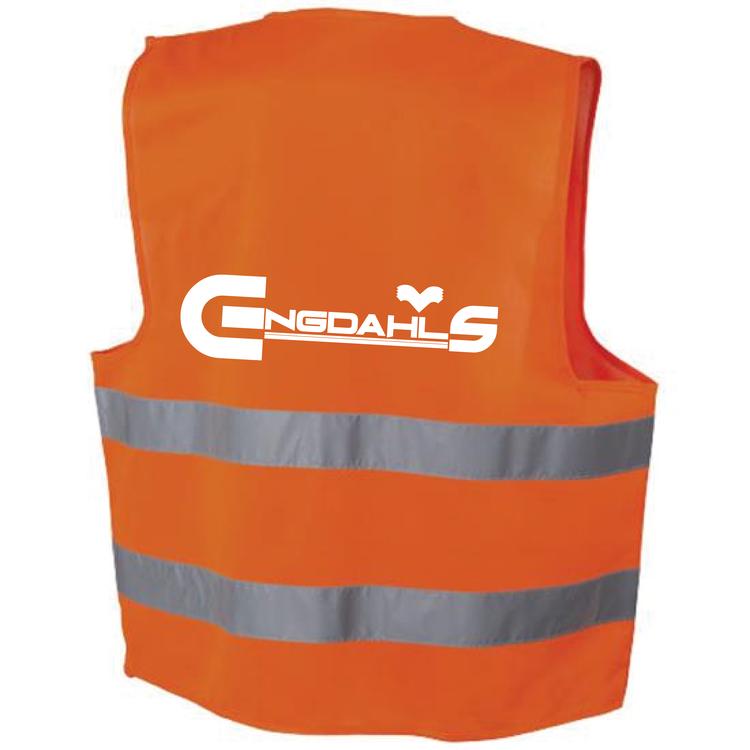"Orange Reflexväst ""Engdahls Logo"""