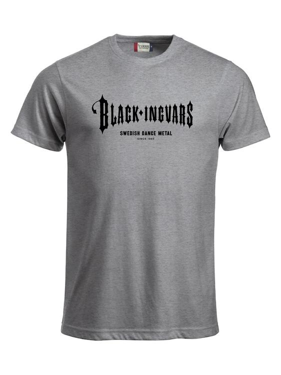 "Grå T-SHIRT ""BLACK-INGVARS"""