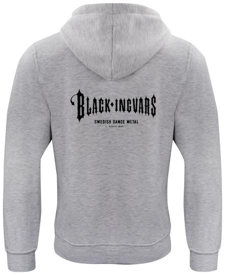 "Grå HOODTRÖJA rygg ""BLACK-INGVARS"""