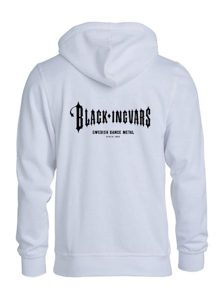 """Vit HOODTRÖJA rygg """"BLACK-INGVARS"""""""