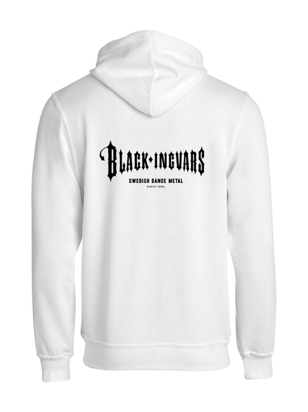 """Vit HOODJACKA rygg """"BLACK-INGVARS"""""""