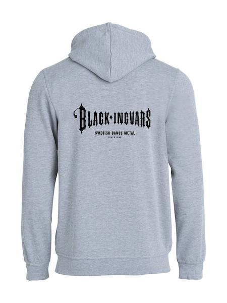 """Grå HOODJACKA v.bröst & rygg """"BLACK-INGVARS"""""""