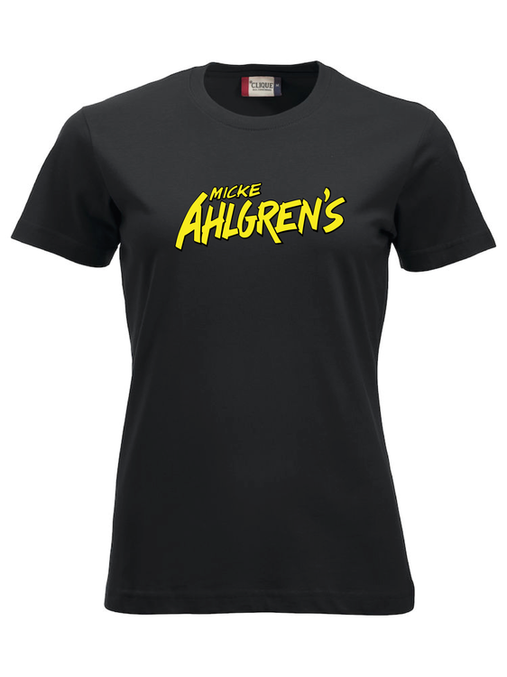"""Svart Dam T-shirt """"Micke Ahlgrens"""""""