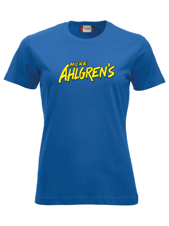 "Blå Dam T-shirt ""Micke Ahlgrens"""
