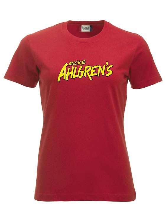 """Röd Dam T-shirt """"Micke Ahlgrens"""""""