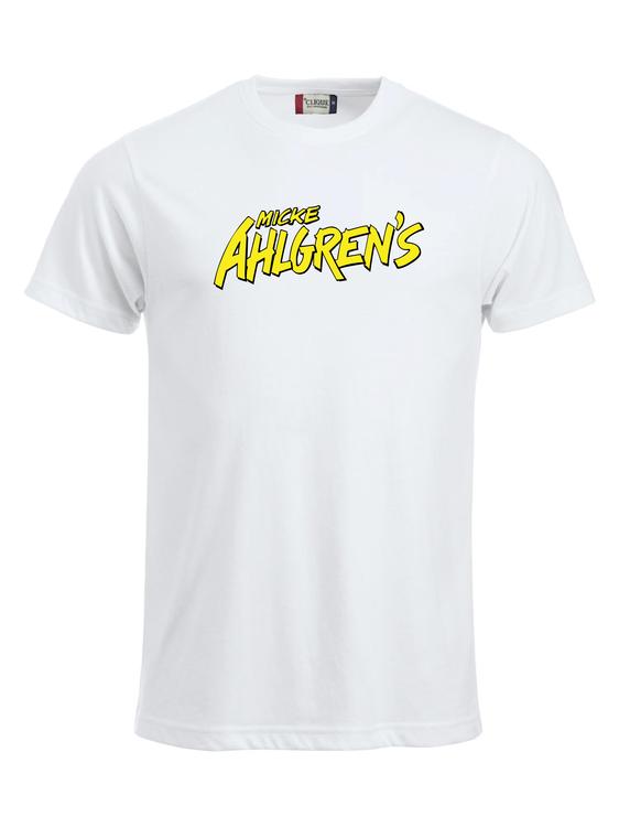 "Vit T-shirt ""Micke Ahlgrens"""