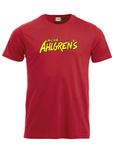 """Röd T-shirt """"Micke Ahlgrens"""""""