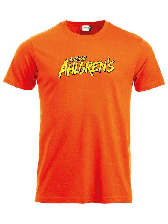 """Orange T-shirt """"Micke Ahlgrens"""""""